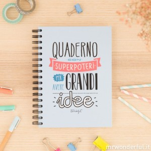 idea, regalo, notebook, mr wonderful, creatività