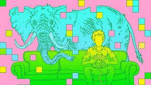 L'elefante è l'elemento anomalo inserito nella scena.