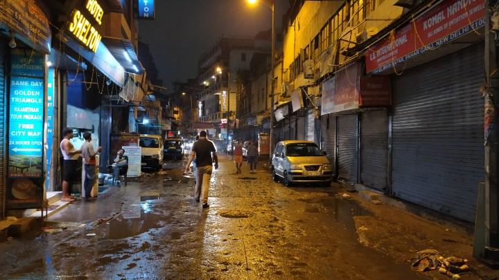 Le quartier routard de Delhi au cœur de la nuit