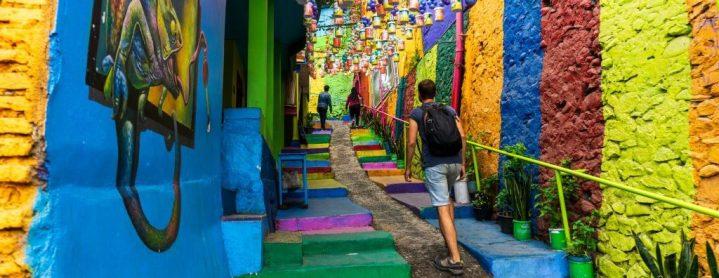 Dans une ruelle du kampung tridi