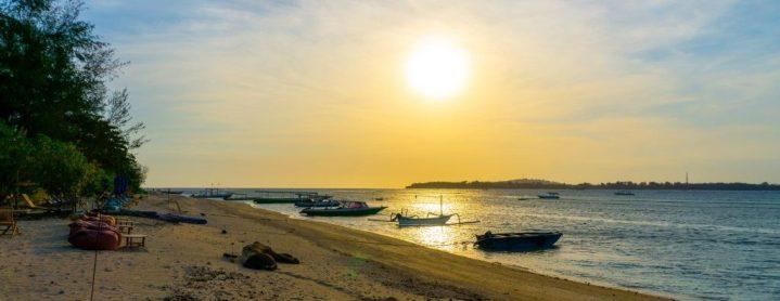 Coucher de soleil aux îles Gili