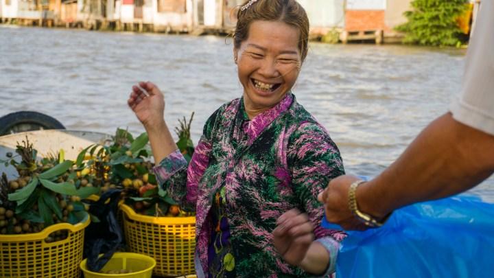 Vendeuse au marché flottant de Can Tho