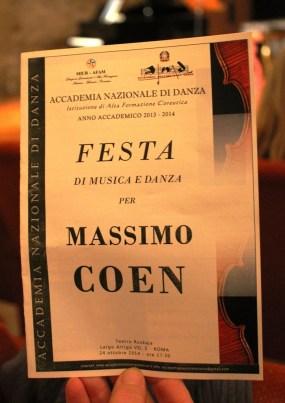 Festa per Massimo Coen all'AND