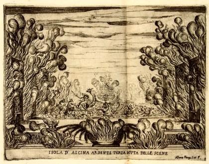 Scenografia di Giulio Parigi per la prima rappresentazione dell'opera