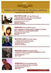 SEMINARI E MASTER Settimana di Musica Antica 2017