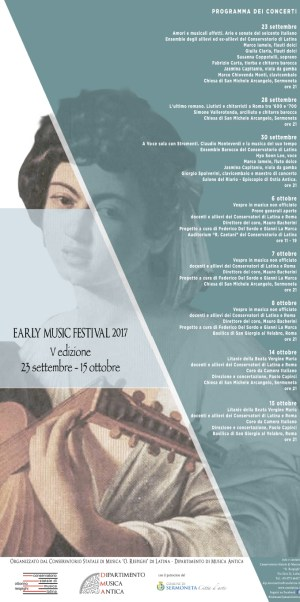 Conservatorio di Latina early music festival 2017