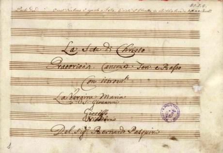 Bernardo Pasquini la Sete di Christo