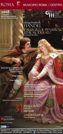 C.I.M.A. Handel Allegro Penseroso Moderato