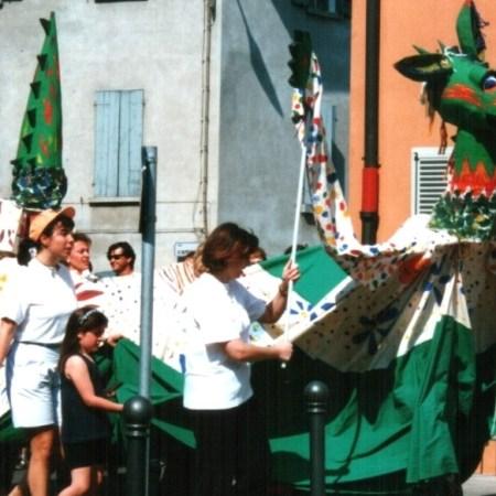 Mariano Dolci Drago San Giorgio burattini