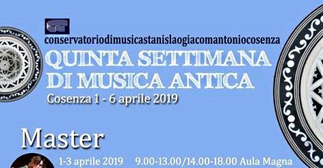 """A Cosenza la """"V Settimana di Musica antica"""""""