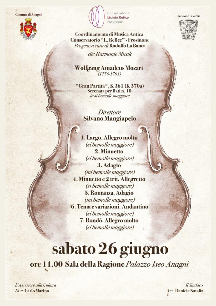 Mozart Gran Partita strumenti storici