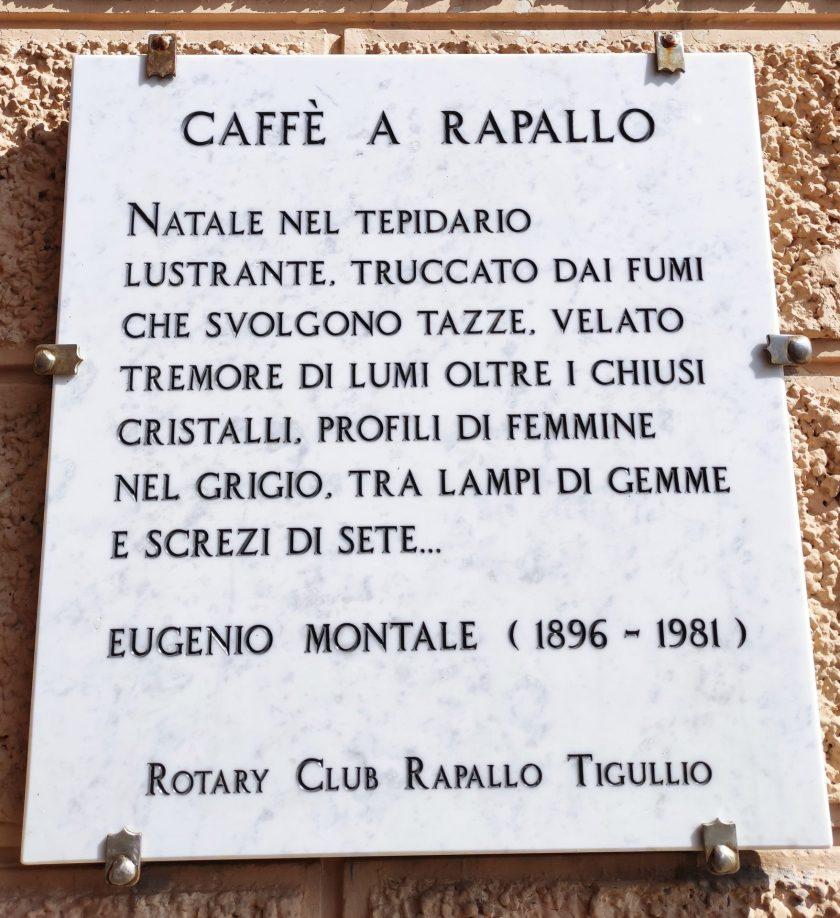 Caffè a Rapallo, Eugenio Montale