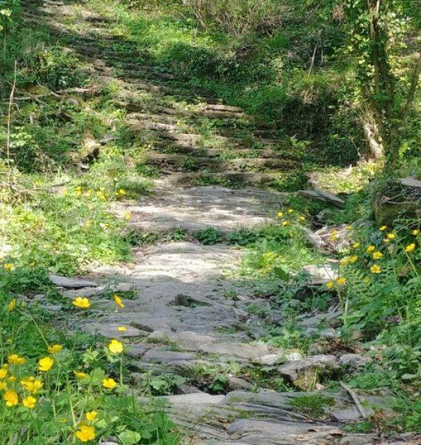 Lavagna, sentiero delle Portatrici d'ardesia