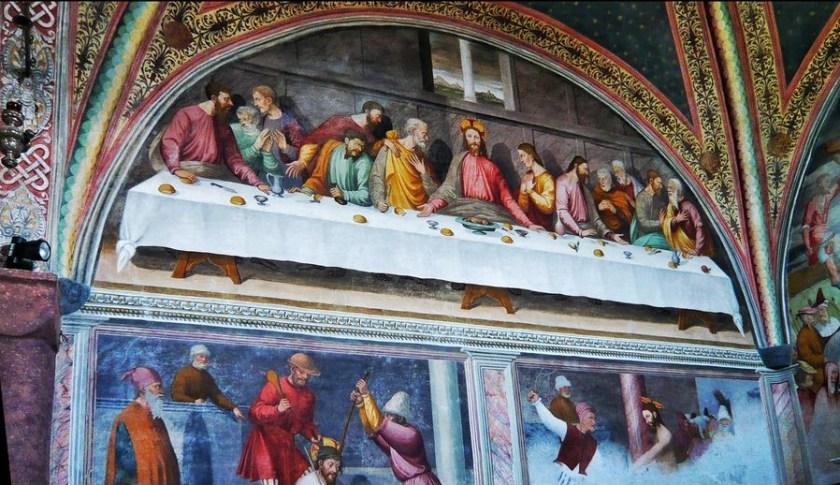 Santuario delle Grazie a Chiavari, affreschi interni