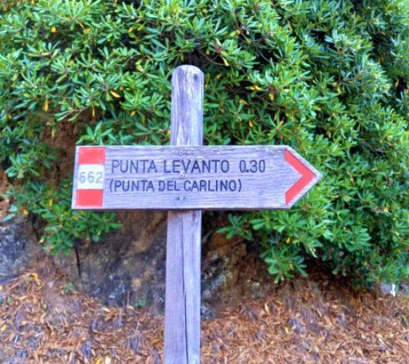Sentieri di Levanto, Punta Levanto