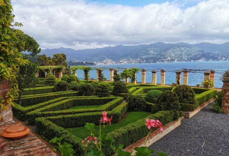 Abbazia della Cervara, giardino all'italiana