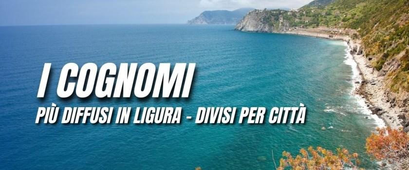 Cognomi Liguria