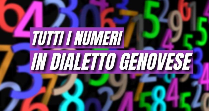 Dialetto Genovese, Numeri