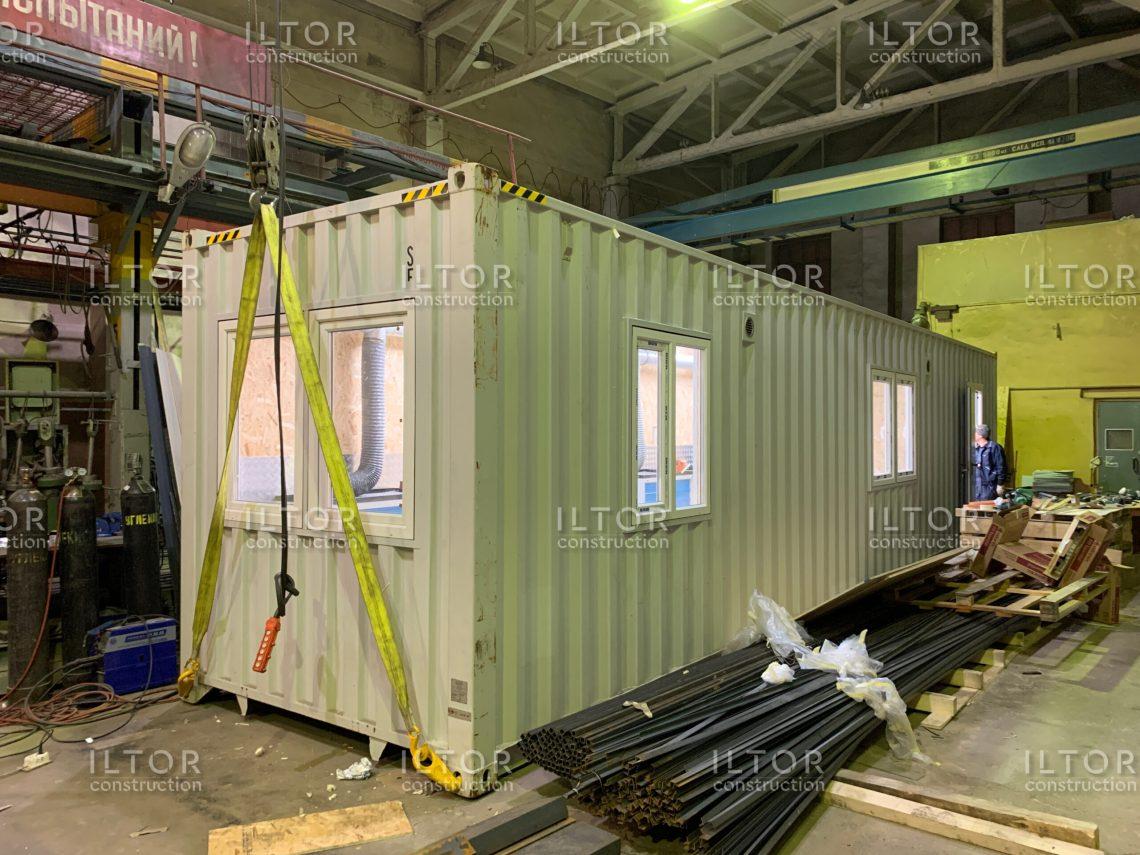 Мастерская в контейнере для проведения сварочных работ