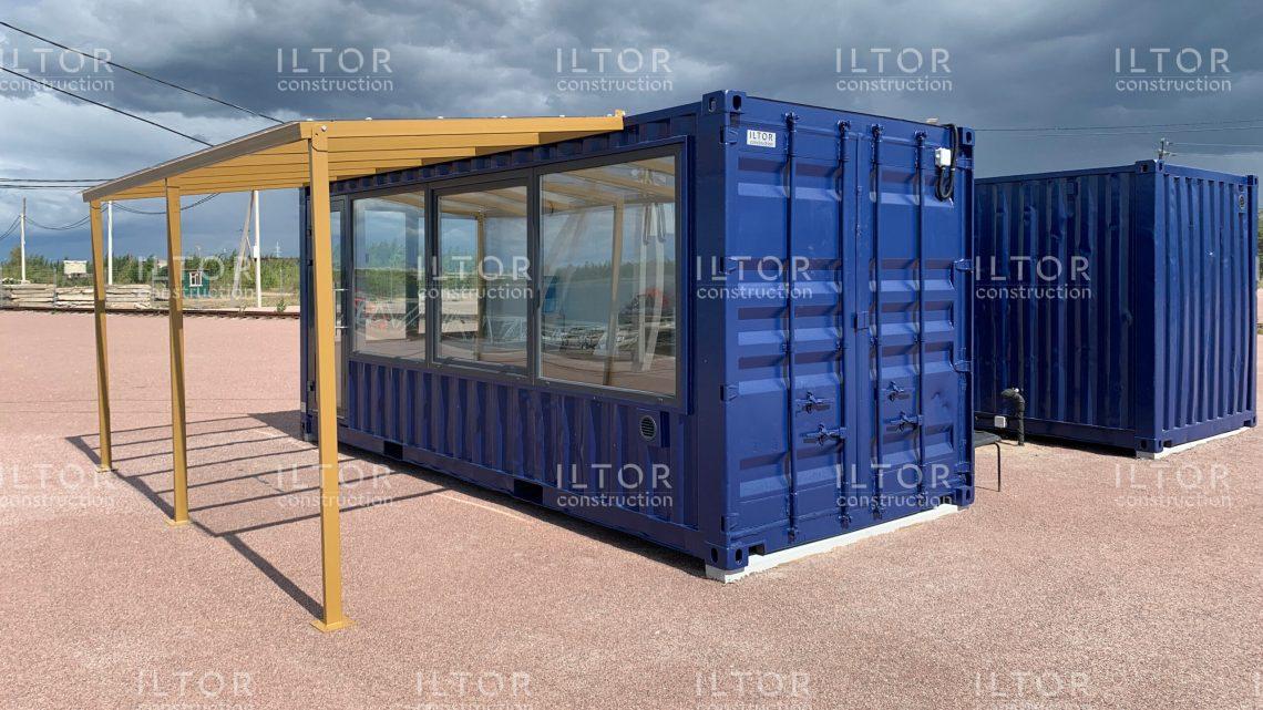 Офис с санузлом из морских контейнеров
