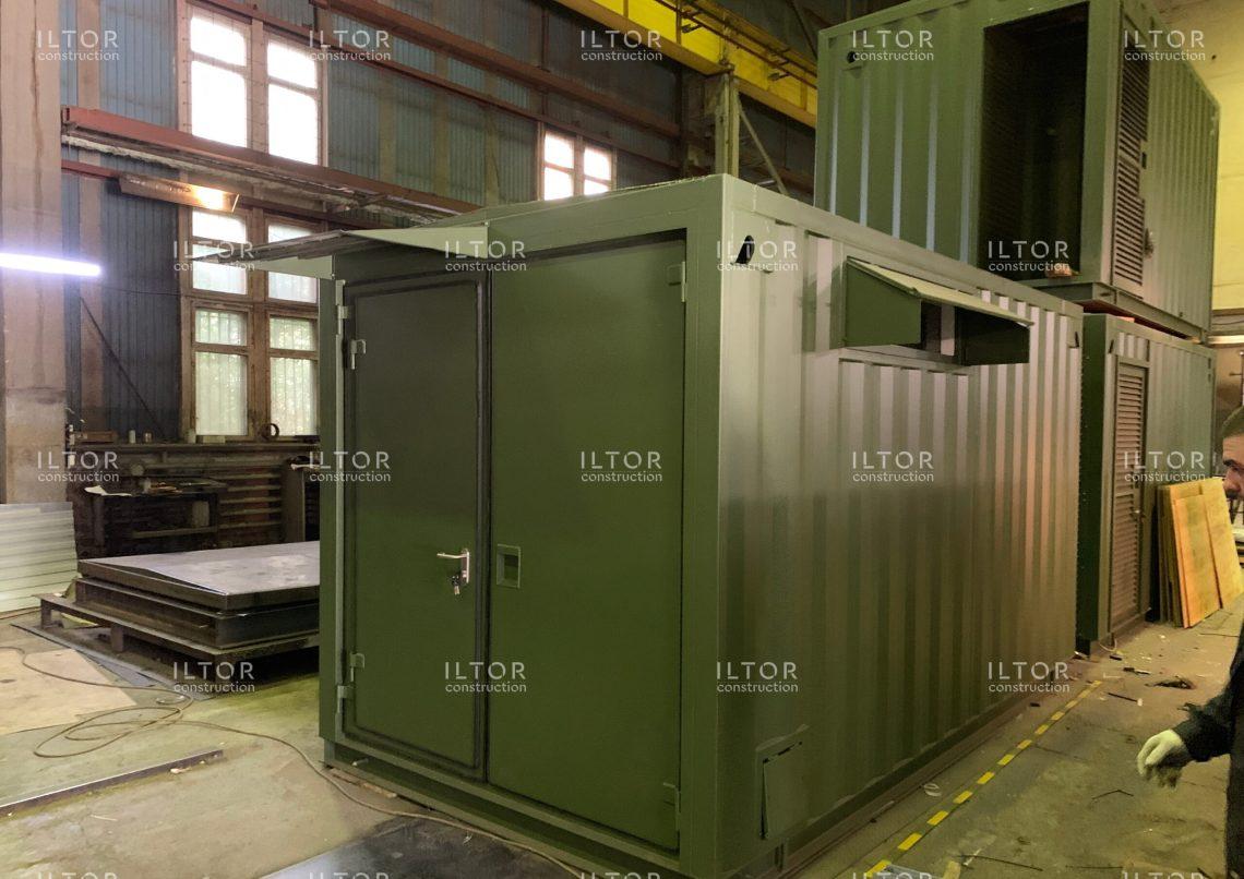 Цельносварной контейнер для мобильных центров обработки и хранения данных