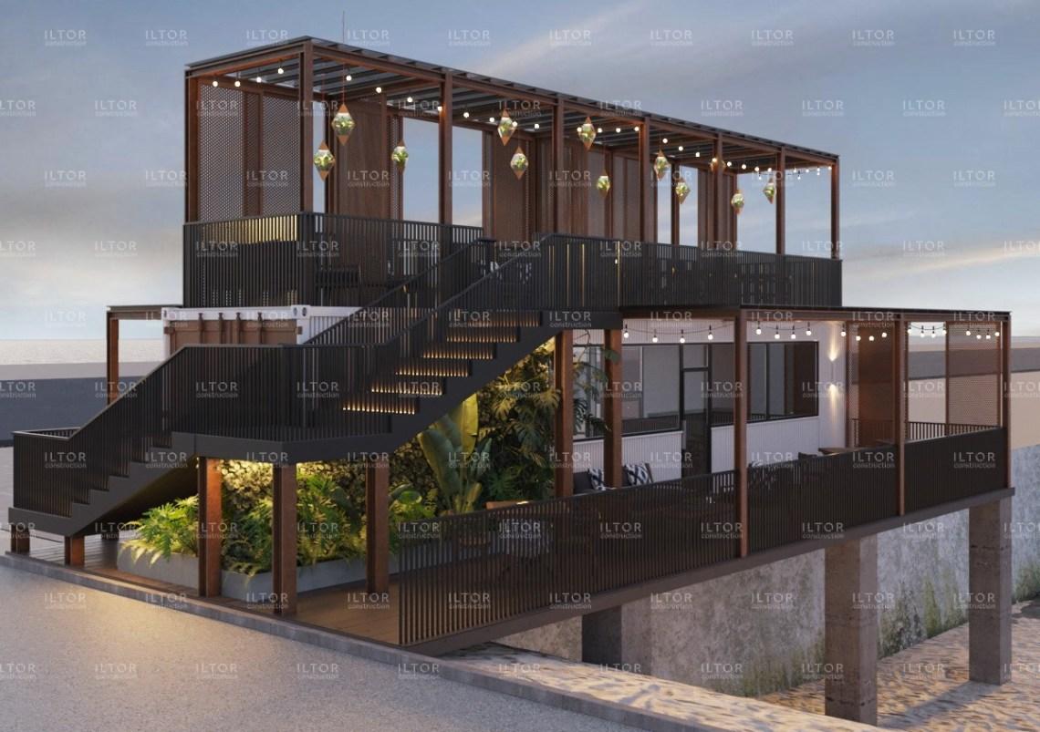 Дизайн проект бара ресторана из контейнера