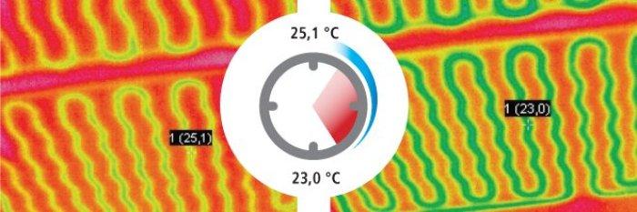 soffitto parete radiante Leonardo_termografia