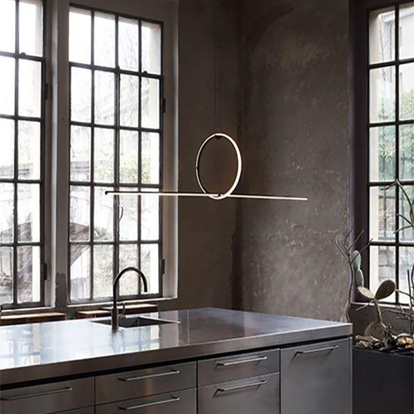 Inspiración de diseño de iluminación minimalista - Colgante Tube
