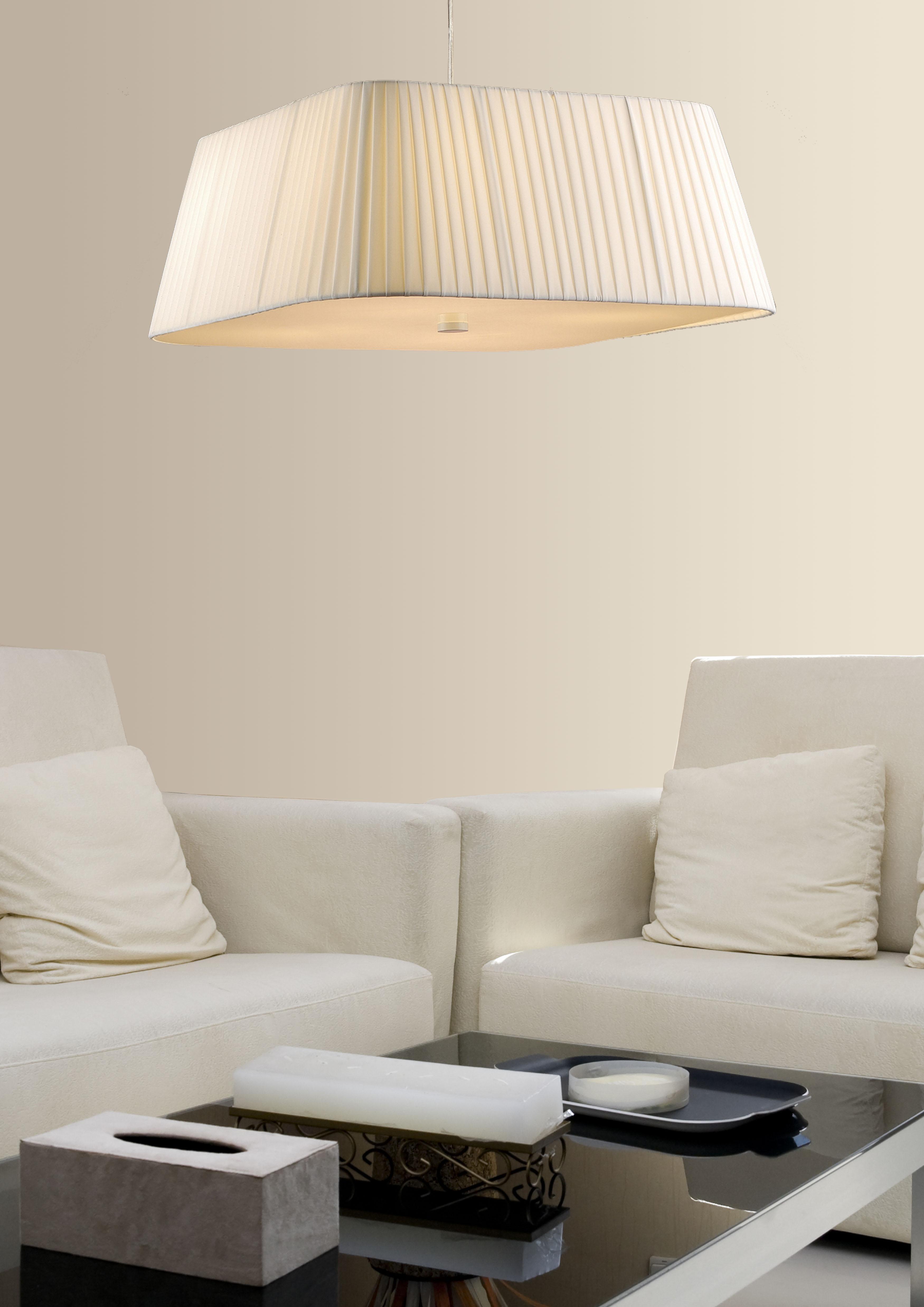 Lamparas pantallas de tela  iluminacion online