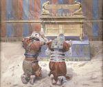 Moises y Josue ante el Arca