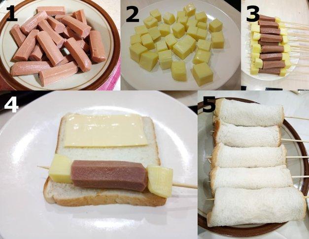Resepi Corn Dog Mozarella
