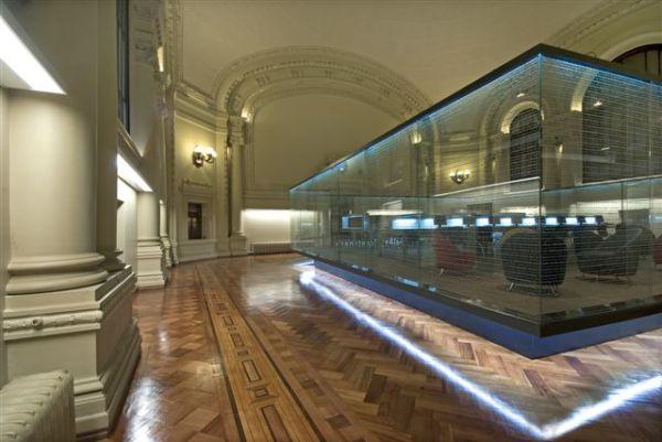 Sal n fundadores en la biblioteca nacional de chile - Proyectos de iluminacion interior ...