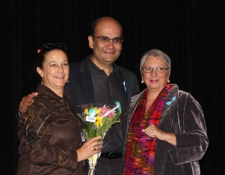 Marsha Turner, Víctor Palacio y Barbara Horton