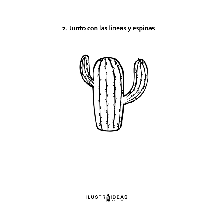 Cómo dibujar un cactus kawaii paso a paso