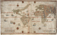Carta del Mundo, en Suma de Cosmographia. Ilustre Marino Pedro de Medina (ca 1550)