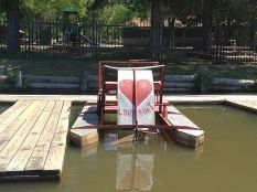 Very cool retro paddleboat.
