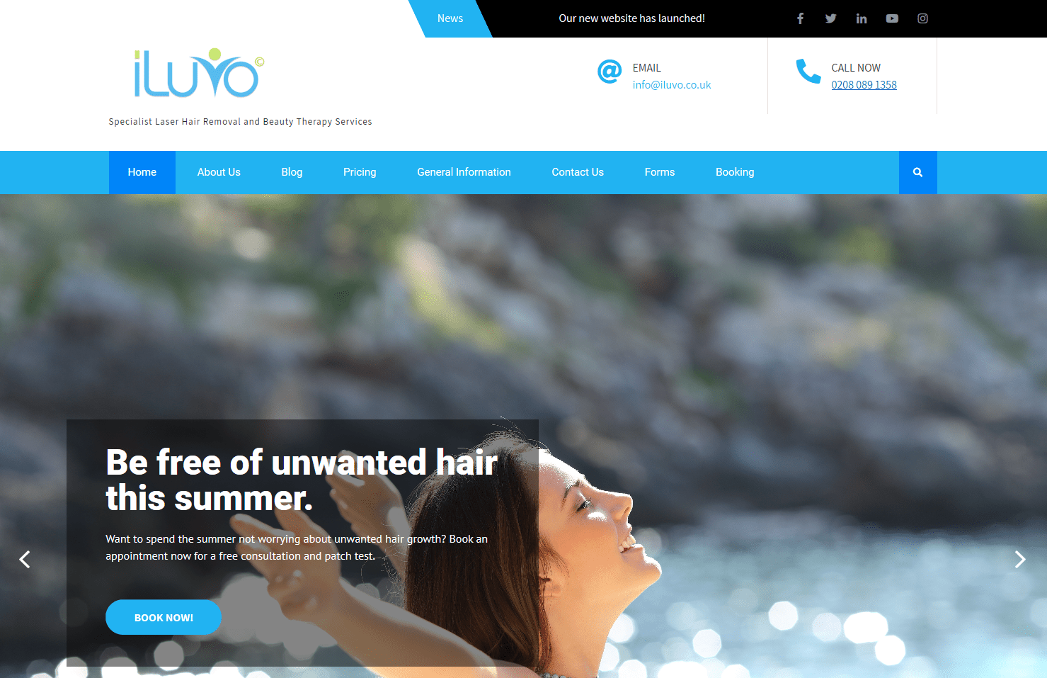 A look at our new iLuvo website landing page