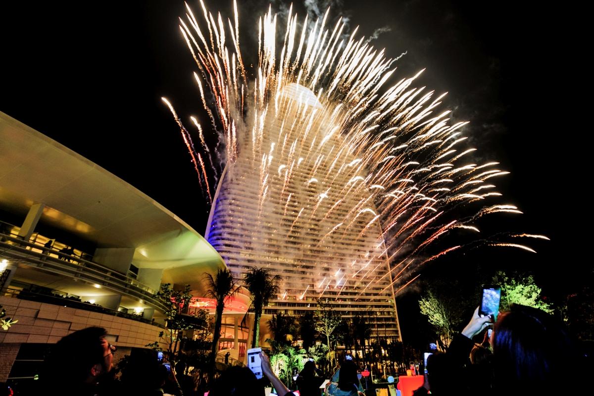 Atlantis Sanya_Fireworks Display