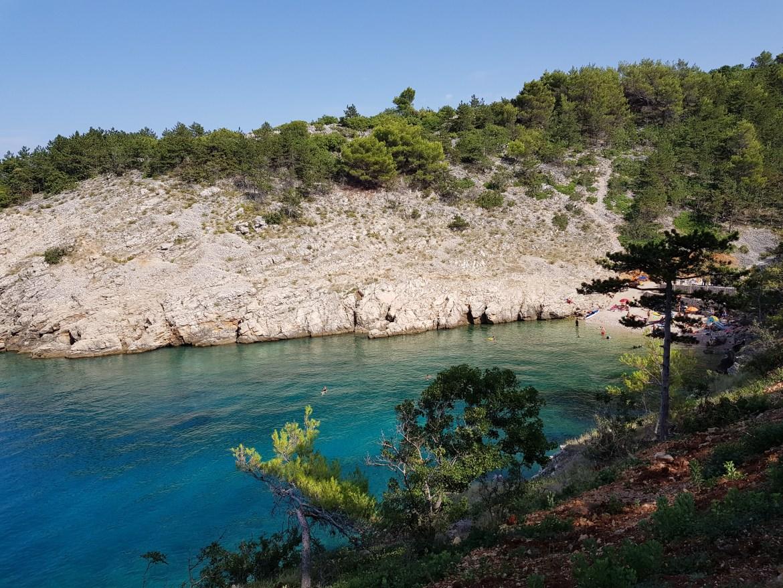 Spiaggia di Kozica a Vrbnik, isola di Krk
