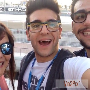 Piero Barone Il Volo Official Facebook At the Formula 1 Grand Prix Abu Dhabi 2014