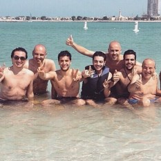 @ilvolomusic; Il Volo and entourage. Abu Dhabi - Relax time - water sports 2015