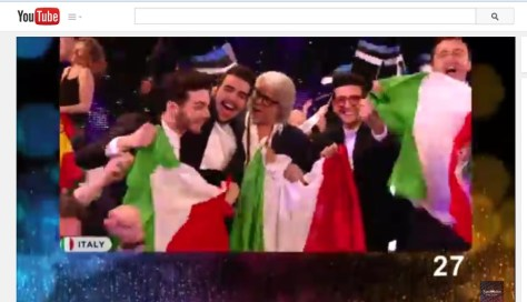 screen cap from Eurovision live YouTube presentation