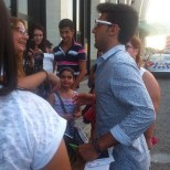 @ilvolomalta Piero with fans - Malta - August 2015