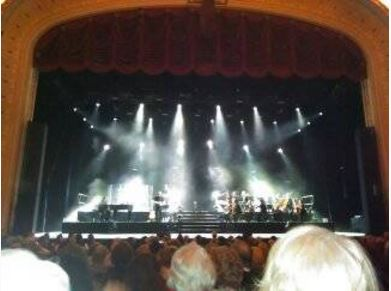 """photo was taken from my seat as the orchestra was """"tuning up."""""""