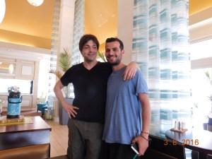 Patricio (?) and Fabio at the Hyatt