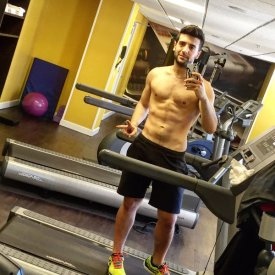 Piero in gym