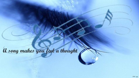 Music makes you feel a thought