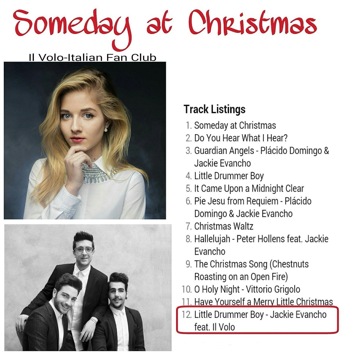 Jackie Evancho Someday At Christmas.Someday At Christmas Ciao From Marie Jane Jana Marie