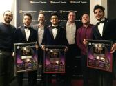 Il Volo con Domingo a Los Angeles presentation to Piero, Ignazio and Gianluca. LA Concert 3/23/17
