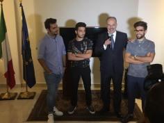italy ambassador panama with Il Volo 9/15/17